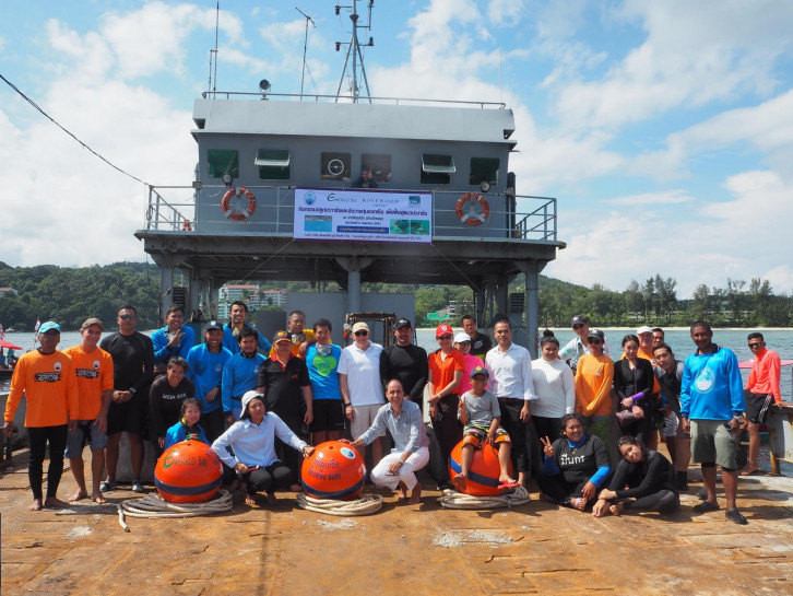 Patong Coral Reef Restoration Project in 2018